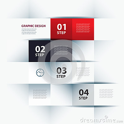 Business step paper and numbers design template