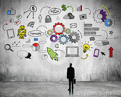 Business Strategic Planning with Internet Icons