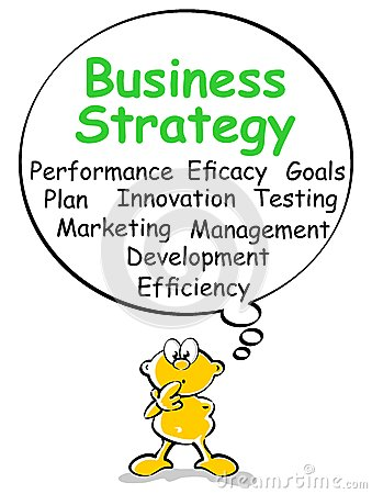 Business strategy - bubble speech