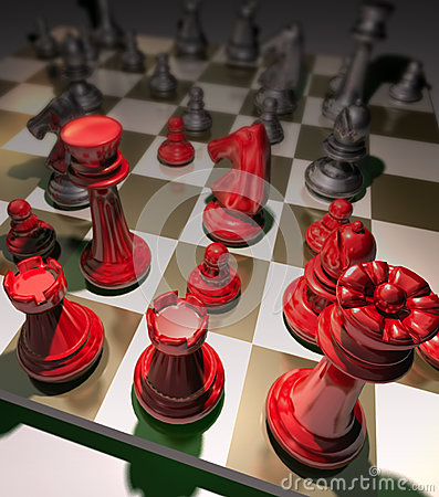 Free Business Strategy Chess Game Stock Images - 42968494