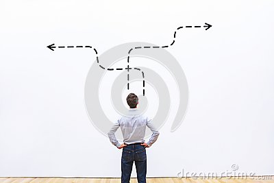 Business strategy or decision making concept Stock Photo