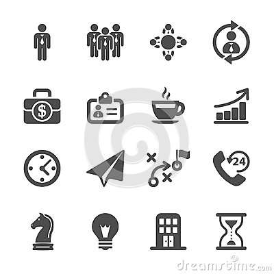 Free Business Strategy Icon Set, Vector Eps10 Stock Photos - 46391343
