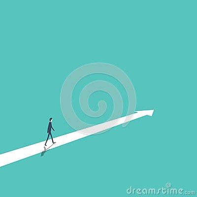 Free Business Strategy, Plan, Decision, Direction Vector Concept With Businessman Walking Forward To Success And Growth. Stock Photography - 100138952