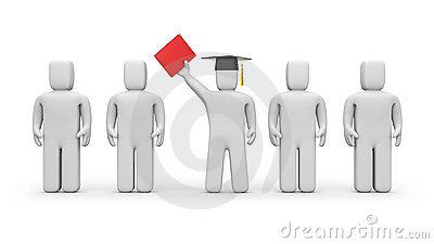 Business students and lecturer or academic