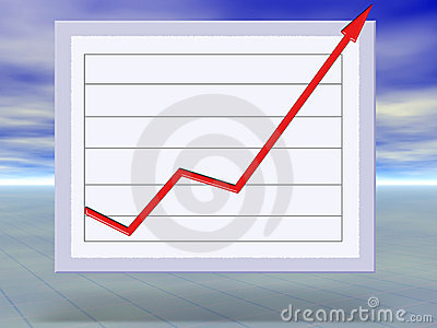 Business success and growth graph concept