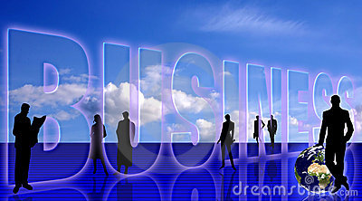 Business symbolic background