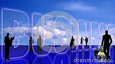 Business symbolic background