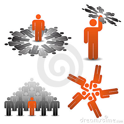 Business symbols teamplay