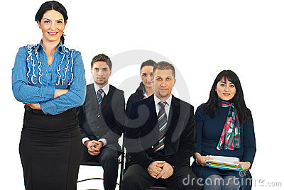 Business teacher woman
