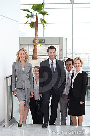 Business team in airport