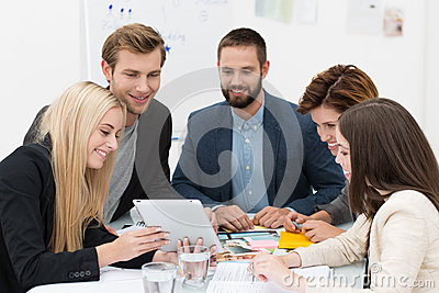 Business team brainstorming