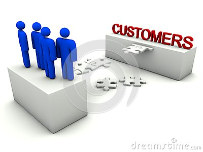 Business team is building customer relationships