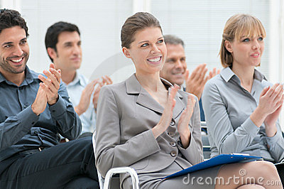 Business team clapping hands