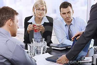 Business team at discussion