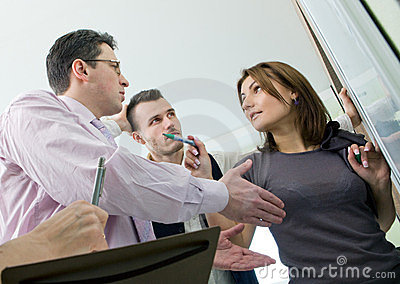 Business team in discussion