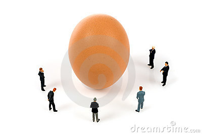 Business team with a egg