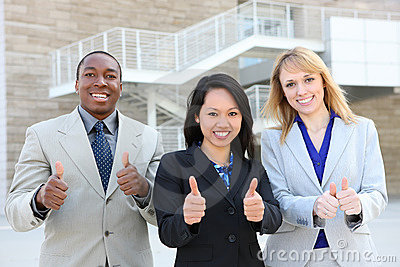 Business Team (Focus on Asian Woman)