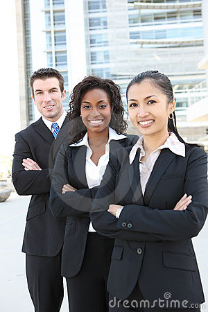 Free Business Team (FOCUS ON MIDDLE WOMAN) Stock Photo - 19493240