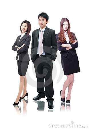 Business team formed of business men and women