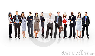 Business team formed of young