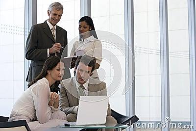 Business team of four