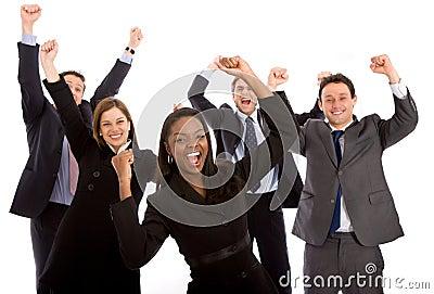 Business team full of success