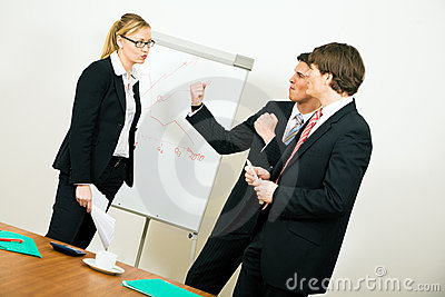 Business Team having an argument