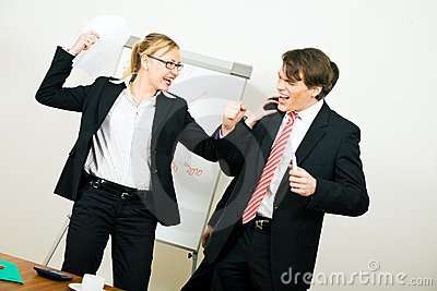 Business Team having conflict