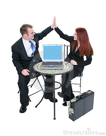 Business Team High Five