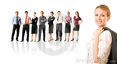 Business team, isolated on white