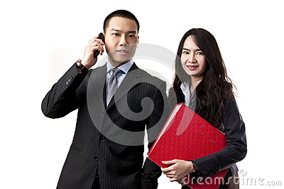 Business team man and woman portrait