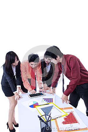 Business team meeting discussion - isolated