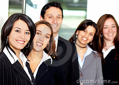 Business team in an office