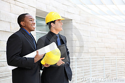 Business Team at Office Construction Site
