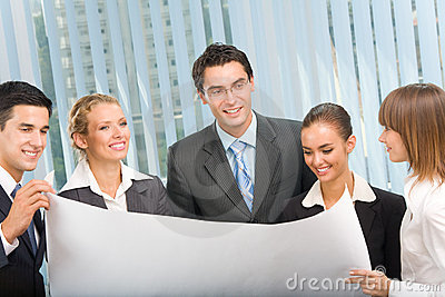 Business team planning
