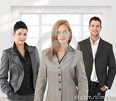 Business team posing