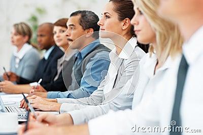 Business team at a presentation