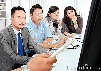 Business team during presentation