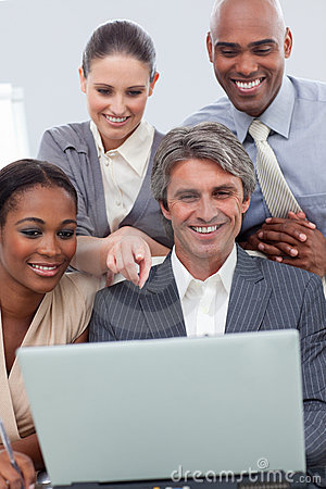 A business team showing ethnic diversity