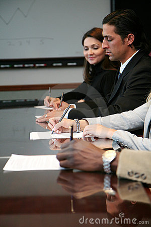 Business Team Signing Contracts
