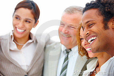 Business team - Smiling happy business people