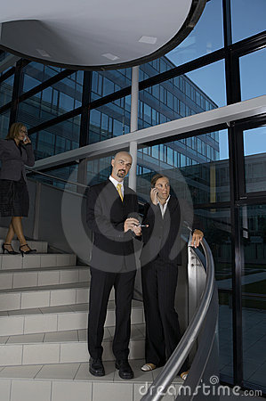 Business Team on the stairs