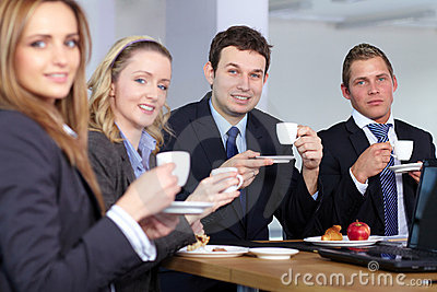 Business team during their coffee break