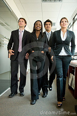 Business team walking