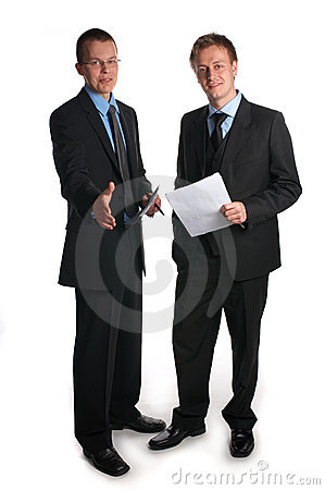 Business team welcoming you as a partner.