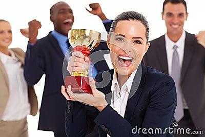 Business team winning