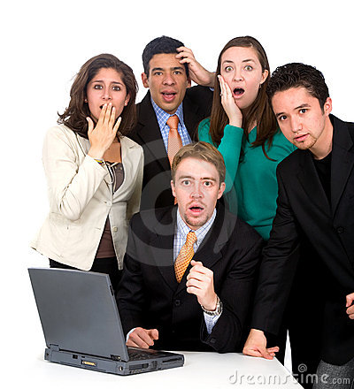 Business team worries