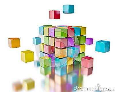 Business teamwork team collaboration brainstorm concept colorful