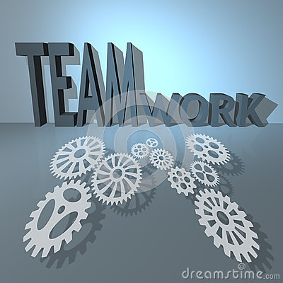 Business teamwork and success