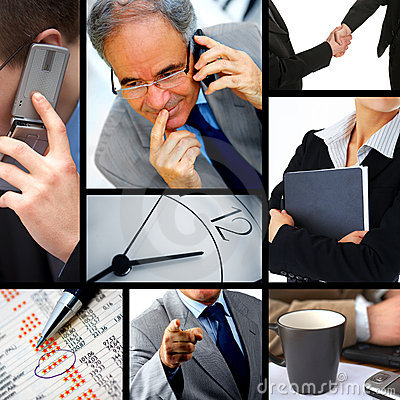 Business themed collage